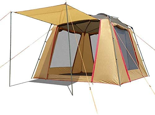 Nuokix Camping Tent, 5-6 Person Camping Tent Outdoor Sun Shelter Instant Cabana Waterproof Shade Canopy for Sports Hiking Travel Rainfly
