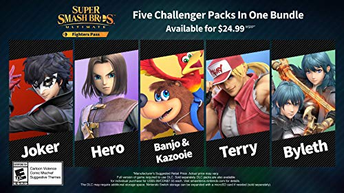 Super Smash Bros. Ultimate Fighter Pass DLC – Nintendo Switch [Digital Code]