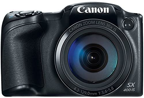 Canon PowerShot SX400 Digital Camera with 30x Optical Zoom (Black) (Discontinued by Manufacturer) (Renewed)