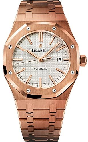 Audemars Piguet Royal Oak Automatic Silver Dial 18kt Rose Gold Mens Watch 15400OROO1220OR02