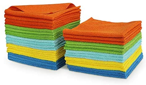 AIDEA Microfiber Cleaning Cloths All-Purpose Softer Highly Absorbent, Lint Free – Streak Free Wash Cloth for House, Kitchen, Car, Window, Gifts(12in.x 12in.)-(Pack-36)