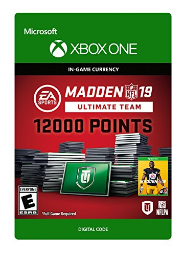 Madden NFL 19: MUT 12000 Madden Points Pack – Xbox One [Digital Code]