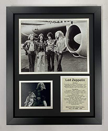 Legends Never Die Led Zeppelin Plane- Rock & Roll Legends Collectible | Framed Photo Collage Wall Art Decor – 12″x15″