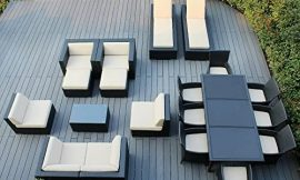 OC Conversation Patio Furniture Sets 20 Pc Sectional Furniture Set Outdoor Wicker Resin Modern Contemporary Lawn and Garden Set Dining Set Coffee Table Sofa Chaise Lounges & eBook by NAKSHOP