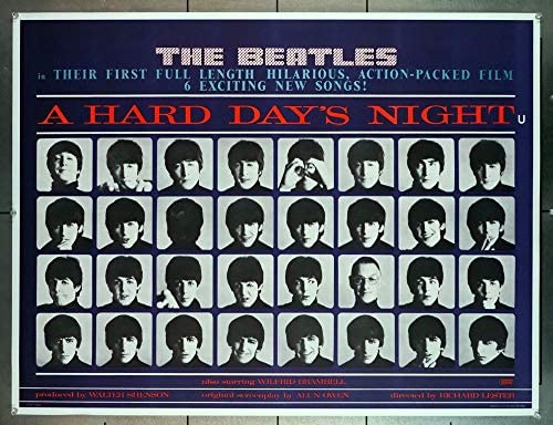 Hard Day's Night, A (1964) Original British 30×40 Movie Poster British Quad Poster THE BEATLES FIRST FILM LENNON MCCARTNEY HARRISON STARR Film directed by RICHARD LESTER