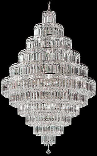 Classic Lighting 1605 CH S Ambassador, Crystal, Chandelier, 32″ x 32″ x 48″, Chrome