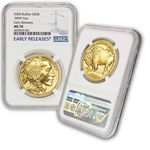 2020 1 oz Gold Buffalo MS-70 NGC (Early Releases) by CoinFolio $50 MS70 NGC