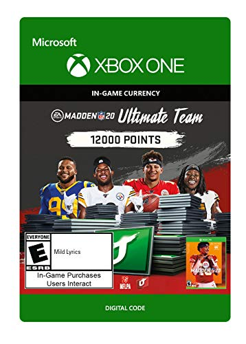 Madden NFL 20: MUT 12000 Madden Points Pack – Xbox One [Digital Code]