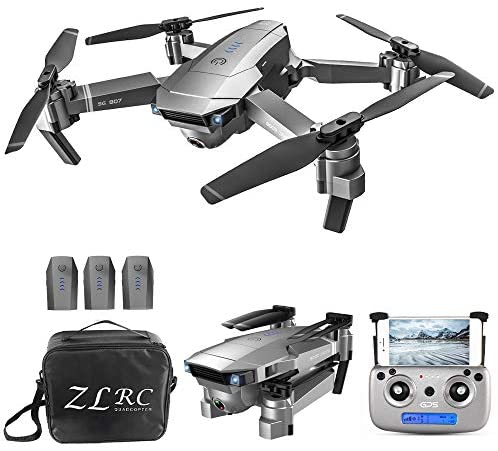GoolRC SG907 GPS Drone, 5G WiFi FPV Foldable Drone with 4K HD Front Camera and 720P Optical Flow Positioning Camera, Follow Me, Gesture Photos/Video RC Quadcopter with 3 Batteries and Handbag