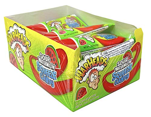Warheads Sour Watermelon Squeeze Candy 2.25 Ounce (Pack of 12)