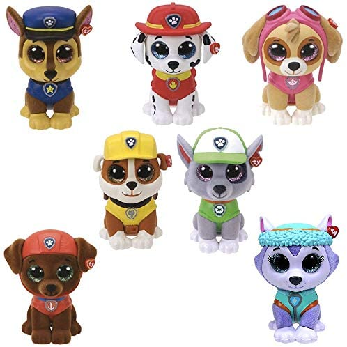 Ty Mini Boos Toy Collectibles Paw Patrol/6 cm Collectable Minifigures Set of 7