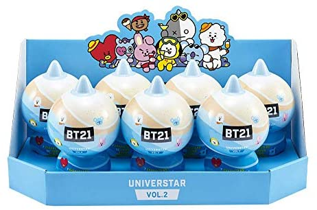 BT21 Universtar Blind Pack, Youngtoys Official Merchandise Collectible Character Action Figure Goods by Line Friends Tata Chimmy Cooky Shooky RJ Koya Mang Van (1 Capsule) (Vol.2)