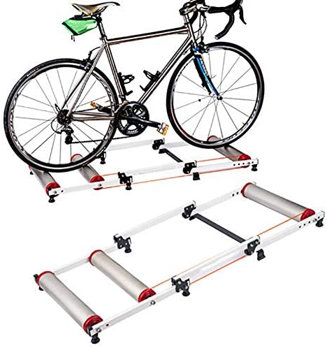HFJKD Home Use Bike Trainer Stand for Mountain Road Bikes Adjustable Front Wheel Bracket for Indoor Training for Most Types of Bike Exercise Fitness Stationary Frame