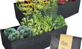 Pocket Garden Fabric Raised Bed Planter – Felt Container 24 x 48 Inches Nonwoven Materials, Perfect For Growing Plants, Flowers And Vegetables – For Small Space Balcony – Rectangle Size (Pack of 2)