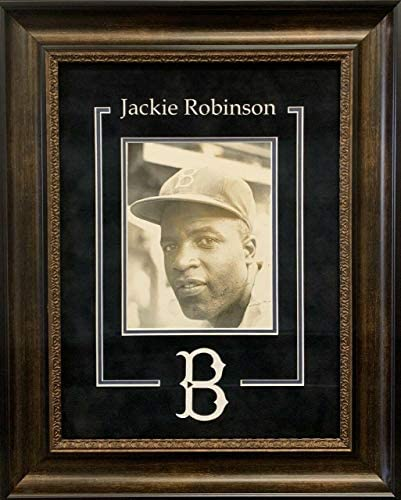 Jackie Robinson Rookie Season 1947 Signed Framed Photo With PSA DNA COA – Autographed MLB Photos