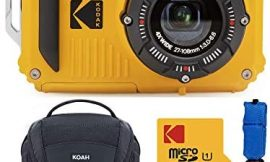 Kodak PIXPRO WPZ2 Rugged Waterproof 16MP Digital Camera with 4X Optical Zoom with Koah Nostrand Gadget Bag with Accessory Kit, 32GB microSD, and Floating Strap Bundle (4 Items)