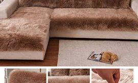 Plush Sofa Cover,sectional Multi-Size Anti-Slip Sofa Slipcover Thick Warm Winter L Shape Corner Couch Covers Pets Dog Furniture Protector-a 70x70cm(28x28inch)