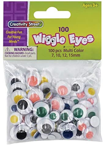 Creativity Street Wiggle Eyes Assorted Sizes and Colors, 100-Piece (CKC344601)