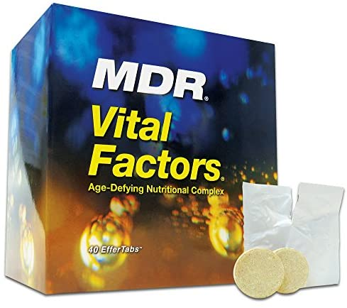 MDR Vital Factors Age-Defying Nutritional Complex – Resveratrol with Anti-Aging Enzymes and Antioxidants – Vitamins for Immune System Boost, Pain Relief, Muscle Strength, Weight Balance – 40 Tabs