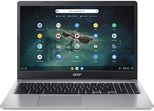Acer 15.6inch Chromebook-Intel Celeron N4000 Processor, 4GB Memory, 32GB SSD Storage, Bluetooth, Chrome OS-(Renewed) (N4000/32GB/Non-Touch)
