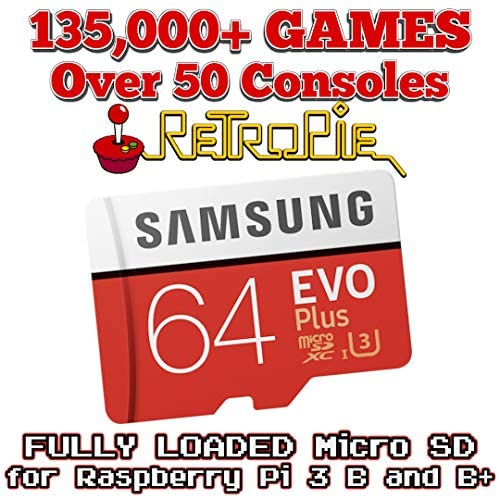 Retropie 135,000 Games for Raspberry Pi 3B and B+ – Fully Loaded Micro SD Card