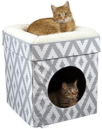 Kitty City Large Cat Bed, Stackable Cat Cube, Indoor Cat House/Cat Condo