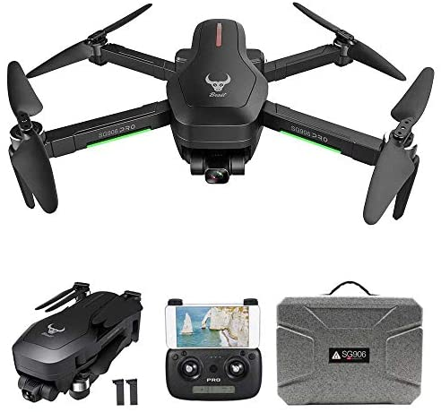 GoolRC SG906 PRO GPS Drone, 5G WiFi FPV RC Drone with 4K HD Camera, 2-Axis Gimbal, Brushless Motor, Foldable RC Quadcopter with Follow Me, Optical Flow Positioning, Carrying EPP Case and 2 Batteries