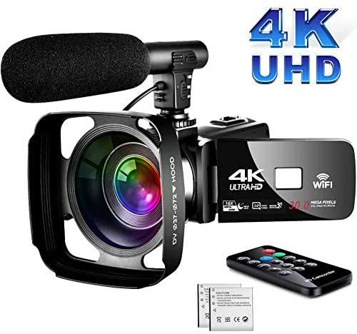 4K Video Camera Camcorder,Vlogging Camera for Youtube Camcorder Ultra HD 4K 16X Digital Zoom 3.0 Inch Touch Screen Camcorder with Night Vision & Mic