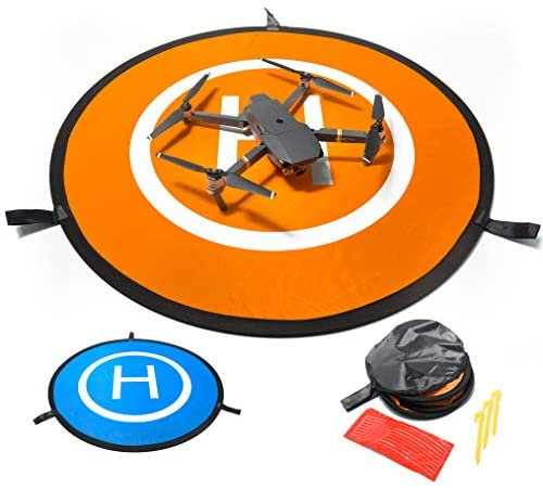 """IbD-Tech Drones Landing Pad, Waterproof 30"""" Universal Landing Pad Fast-fold Double Sided Quadcopter Landing Pads for RC Drones Helicopter DJI Spark Mavic Pro Phantom 2/3/4 Pro Inspire 2/1 3DR Solo"""