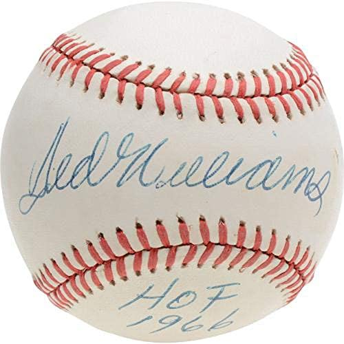 "Ted Williams Red Sox Autographed Baseball with""HOF 66″ Inscription – JSA – Autographed Baseballs"