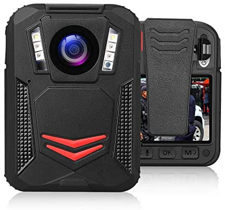 BOBLOV G2A 1440P Body Camera GPS 32G Body Mounted Wearable Camera Auto Night Vision Camera 2 Batteries File Password Protection Latest Amba H22 Chipset (Built-in 64G)