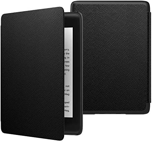 MoKo Case Fits Kindle Paperwhite (10th Generation, 2018 Releases), Thinnest Lightest Smart Shell Cover with Auto Wake/Sleep for Amazon Kindle Paperwhite 2018 E-Reader – Black