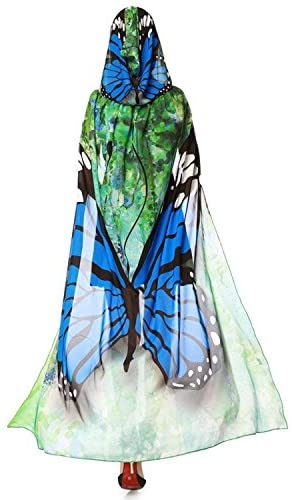 Halloween/Party Butterfly Wings Costumes for Women,Soft Fabric Butterfly Shawl Fairy Ladies Nymph Pixie Festival Rave Dress