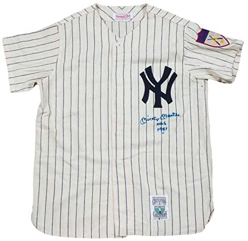 Incredible Mickey Mantle No. 6 Signed Inscribed NY Yankees Rookie Jersey PSA DNA – Autographed MLB Jerseys