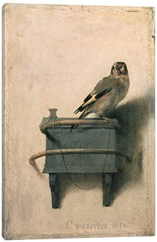 iCanvasART The Goldfinch, 1654 Print, 18″ x 12″