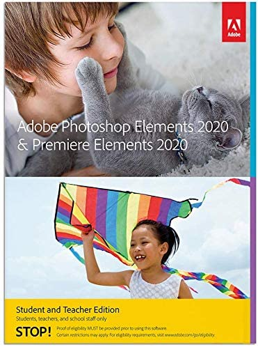 Adobe Photoshop Elements 2020 and Premiere Elements 2020 Student and Teacher [PC/Mac Disc]