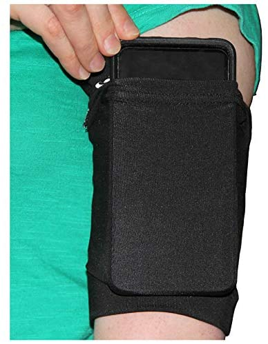 i2 Gear Armband Sleeve Phone Holder for Running & Exercise – Compatible with iPhone 11, Pro Max, XR, XS, 8 Plus, Samsung Galaxy S10e, Galaxy S10, S10+, S9+, S8+ (Black, Medium)