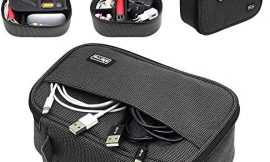 Sisma Travel Cords Organizer Universal Small Electronic Accessories Carrying Bag for Phone Chargers Cables Adapter USB Sticks Mouse SD Cards – Starlight Special Edition