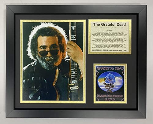 Jerry Garcia- The Grateful Dead Collectible | Framed Photo Collage Wall Art Decor – 12″x15″ | Legends Never Die