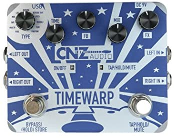 CNZ Audio Time Warp – Multi-Delay Guitar Effects Pedal, Dual Input & Output