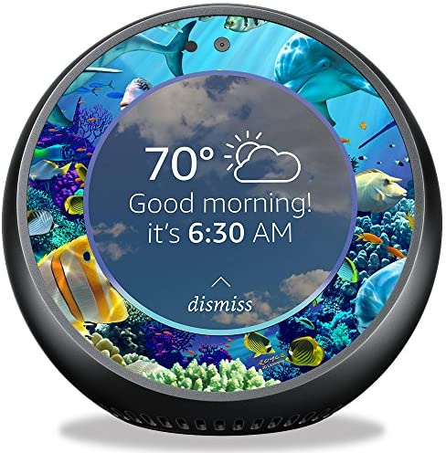 MightySkins Skin Compatible with Amazon Echo Spot – Ocean Friends | Protective, Durable, and Unique Vinyl Decal wrap Cover | Easy to Apply, Remove, and Change Styles | Made in The USA