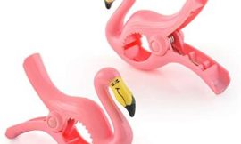 O2COOL Flamingo BocaClips, Beach Towel Holders, Clips, Set of Two, Beach, Patio or Pool Accessories, Portable Towel Clips, Chip Clips, Secure Clips, Assorted Styles