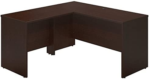 Bush Business Furniture Series C Elite 60W x 24D Desk Shell with 36W Return in Mocha Cherry