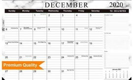 Tobeape 2020-2021 Desk Calendar, Large Monthly Pages 17 x 12 inches Wall Calendar Daily Planner, Hanging 2-Year Runs from Now Through December 2021