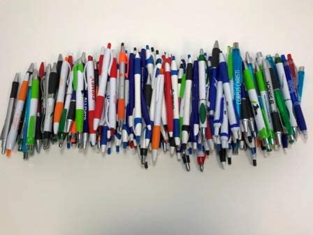 175 Lot Misprint Ink Pens, Ball Point, Plastic, Retractable