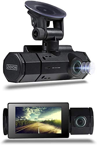 Zidion Z20 Dash Cam Car Video Recorder – 1920x1080p Full HD Front and Rear Dual Lens Auto-Recording with Wide-Angle View – Infrared LED, Night Vision, Motion Detection, G-Sensor and Parking Monitoring