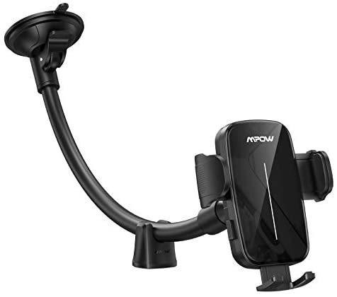 Mpow Car Phone Holder, Upgraded Windshield Long Gooseneck Phone Holder for Car Windshield, Car Phone Mount Compatible with iPhone SE 11 Pro Max XS XR, Galaxy Note 20 S20 S10 and More