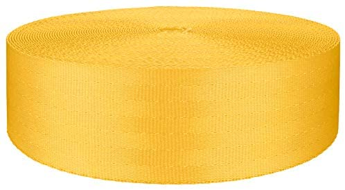 2 Inch Yellow Polyester Webbing Closeout, 10 Yards