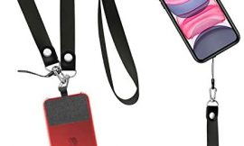 UKON Phone Lanyard Removable Cell Phone Neck Lanyard Wrist Strap for Drop Protection Phone Charms Keychain Durable Nylon Material Fit Most Smartphone Cases (Black)