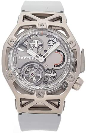 Hublot MP Mechanical (Hand-Winding) Grey Dial Watch 408.JW.0123.RX (Pre-Owned)